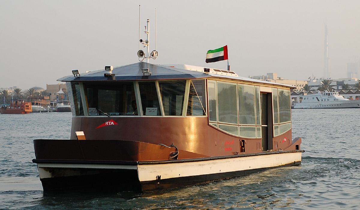 water bus in Dubai